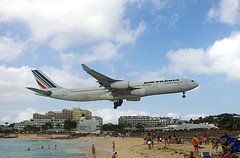 Air France landing at St. Maarten