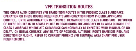 VFR transition route