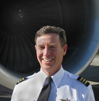 Photo of Jeff in front of B-757