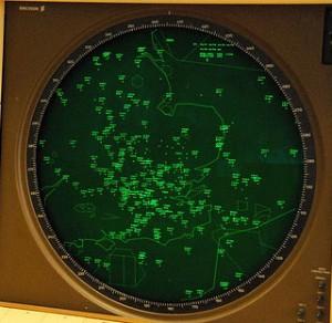 Busy radar scope